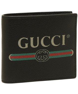 グッチ 折財布 メンズ GUCCI 496316 0GCAT 8163 ブラック