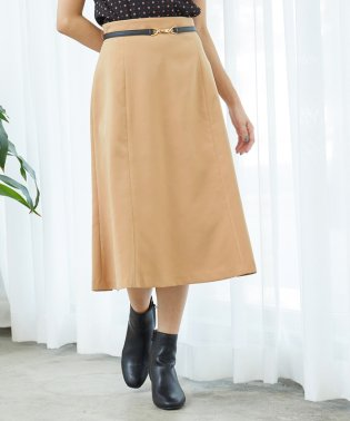 ビットベルト付きフレアスカート