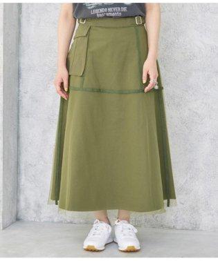 チュール×ツイルミリタリースカート