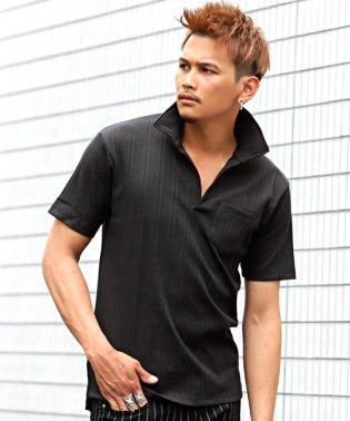 ランダムテレコ半袖ポロ&イタリアンカラー半袖ポロシャツ/ポロシャツ メンズ 半袖 イタリアンカラー ランダムテレコ