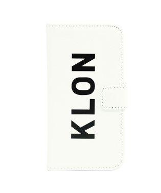 KLON iPhone X FLIP CASE (LOGO LARGE) WHITE