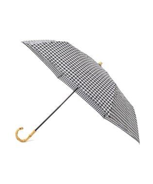ギンガムチェック晴雨折りたたみ傘