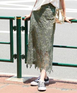 リーフレースロングスカート