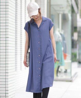 【socolla】開襟シャツワンピース