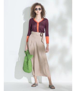 ベルトデザインスカート見えガウチョパンツ