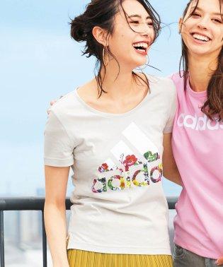 <adidas>フラワーTシャツ