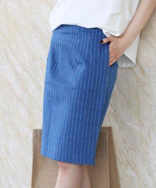 ストライプデニムタイトスカート