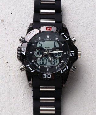 【HPFS】アナデジ アナログ&デジタル腕時計 HPFS1510 メンズ腕時計 デジアナ