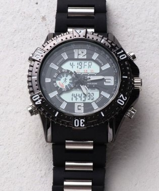 【HPFS】アナデジ アナログ&デジタル腕時計 HPFS1702 メンズ腕時計 デジアナ