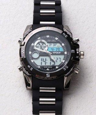 【HPFS】アナデジ アナログ&デジタル腕時計 HPFS615 メンズ腕時計 デジアナ