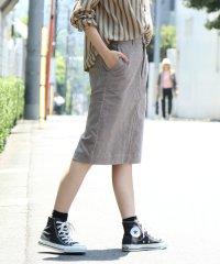 USAコットンコーデュロイタイトミディアムスカート