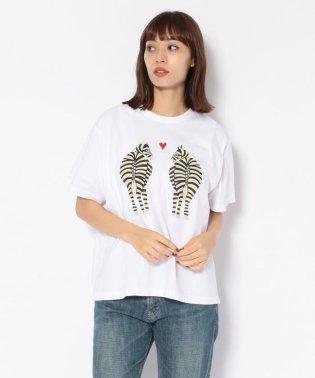 BOHEMIANS/ボヘミアンズ LOVE ZEBRA pt LOOSE S/S TEE Tシャツ