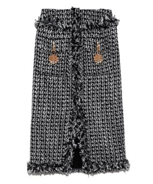 [L.B CANDY STOCK]ビジューツイードスカート