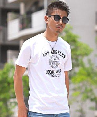 カレッジプリント半袖Tシャツ/Tシャツ メンズ 半袖 プリント ロゴ