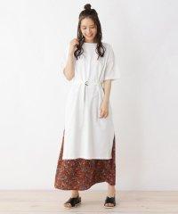 【2点セット】綿Tシャツワンピース+スカートセット