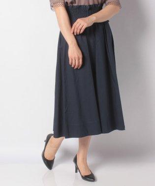 :ギャザーベルト付スカート/T