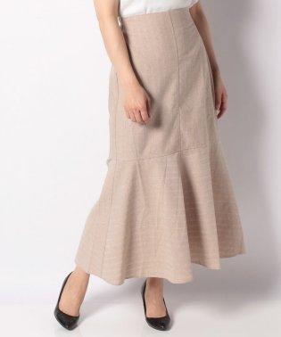 【Omekashi】リネンストライプ切り替えスカート