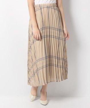 シアーチェックプリントスカート