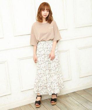 花柄シフォンプリーツ/スカート