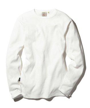 【至極の逸品】【DAILY】長袖 ミニワッフル クルーネック Tシャツ/ L/S MINI WAFFLE CREW-NECK Tシャツ