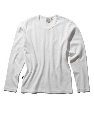 【至極の逸品】ミニワッフル 長袖 Vネック Tシャツ/MINI WAFFLE T-SHIRT