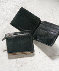 MURA 財布 メンズ 二つ折り 薄型 スキミング防止 イタリアンレザー ブライドルレザー