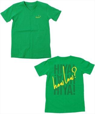 バックロゴVネック半袖Tシャツ