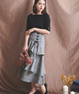 【美人百花9月号掲載】ラッフルティアードスカート