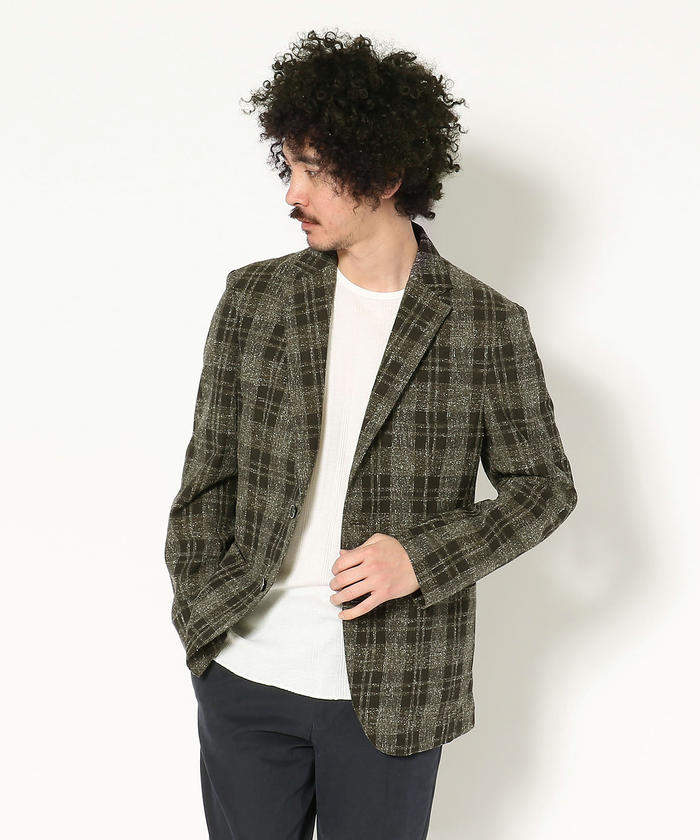 G-stage/ジーステージ/FORTEX nep check jacket