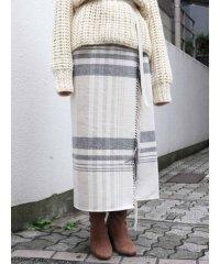 ブランケットラップスカート