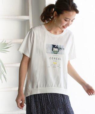 バックデザイン転写プリントTシャツ