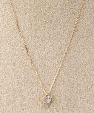18KYG 0.1ct ダイヤモンド ネックレス