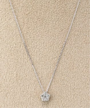 18KWG 0.1ct ダイヤモンド ネックレス