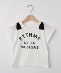 【100cm~150cm】【接触冷感】肩リボンロゴTシャツ