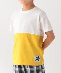 【90cm~160cm】【接触冷感】切替配色Tシャツ