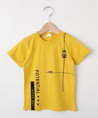 【150cmまで】車&ロゴプリントTシャツ