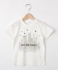 【コットン100%】【90cm~150cm】ロゴ&ビルプリントTシャツ