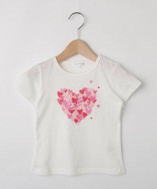 【コットン100%】【110cm~150cm】ハートプリントTシャツ