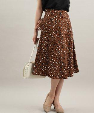 レオパード柄ナロースカート