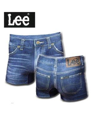 Lee 転写成型ボクサーパンツ ヴィンテージデニム 290:ネイビー 前閉じ