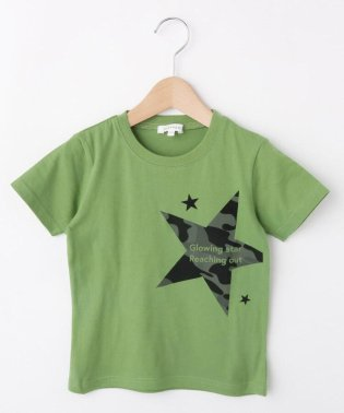 【コットン100%】【100cm~160cm】迷彩星プリントTシャツ
