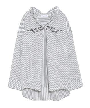 ワイドシルエットストライプシャツ