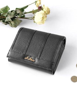 二つ折り財布 レディース 大容量 大きめ ストライプ フラップ