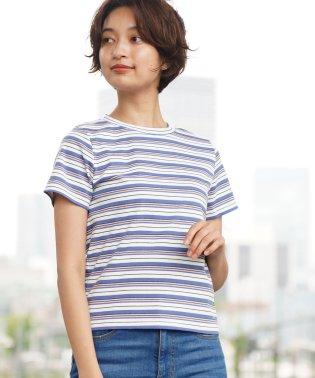 [GIORDANO]マルチボーダーTシャツ