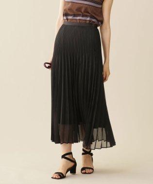 【LEE 10月号掲載】オーガンジー二重プリーツスカート