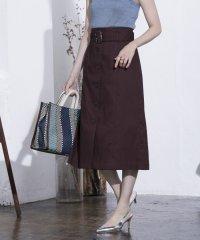 ★フロント釦ベルト付きスカート