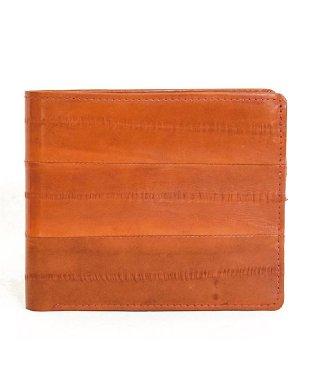 イールスキン 薄型ウォレット 2つ折り財布 うなぎ革