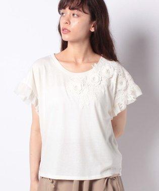 お花レースTシャツ