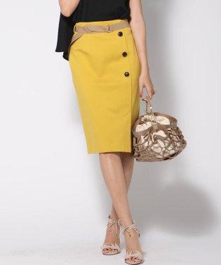 ハイテンション配色ベルトタイトスカート