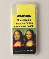 URBAN SOPHSTICATION GRAPHIC WARNING IPHONE CASE